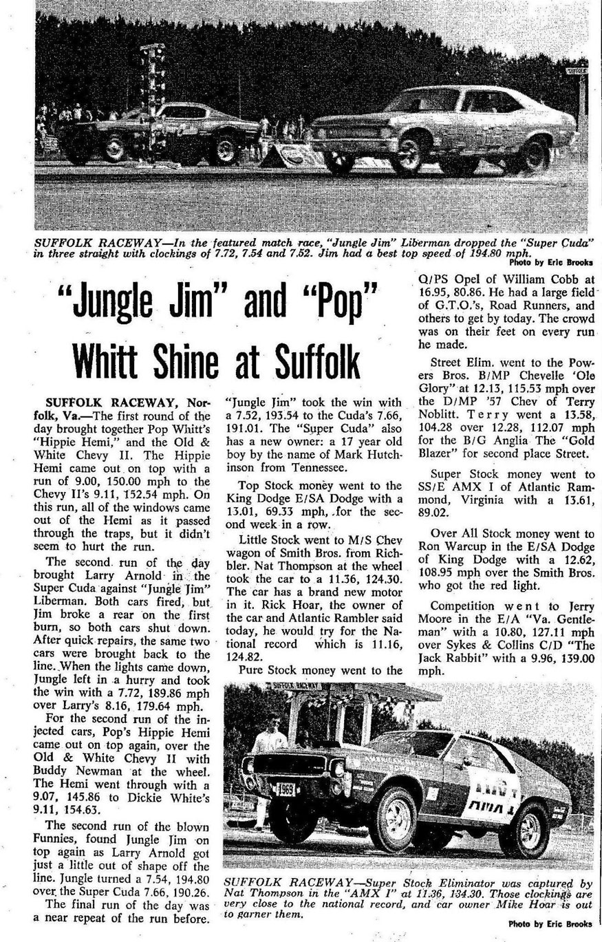 """Jungle Jim"" and ""Pop"" Whitt Shine at Suffolk"