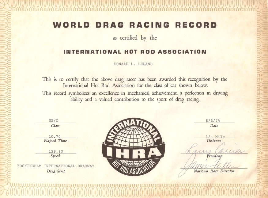 World Drag Racing Record