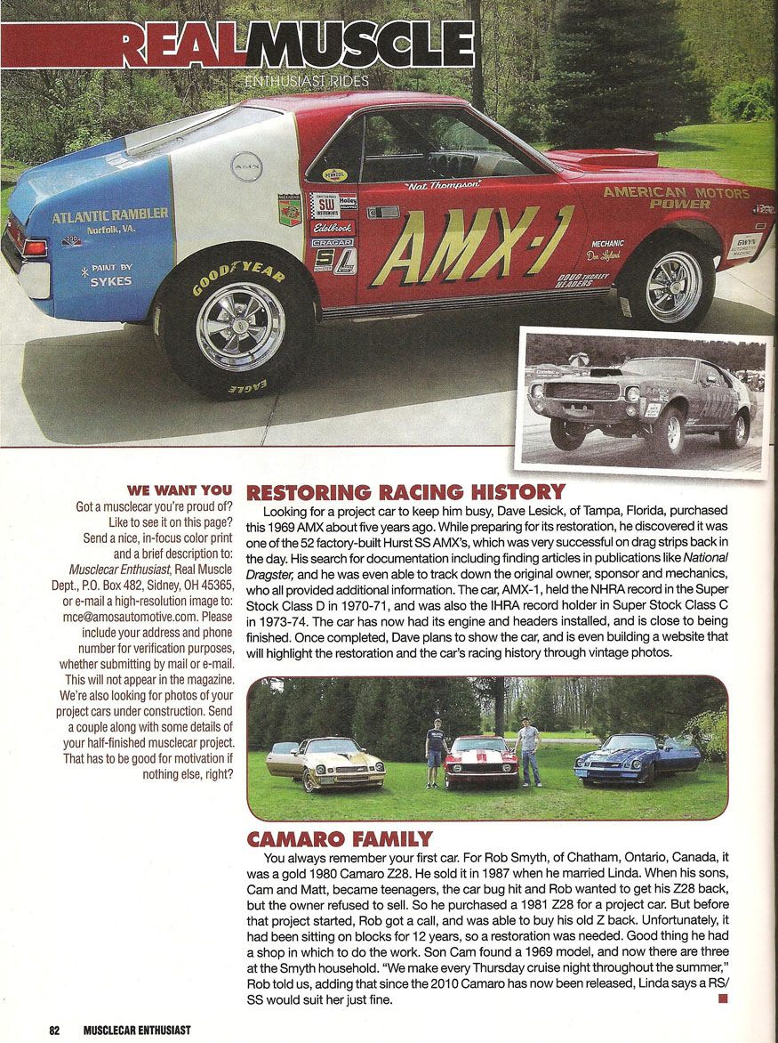 Real Muscle Restoring Racing History